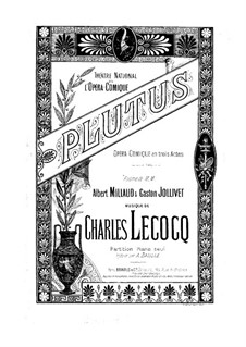 Plutus: Plutus by Charles Lecocq
