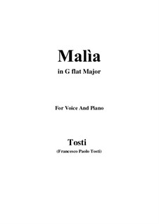 Malia (The Spell): G flat Major by Francesco Paolo Tosti
