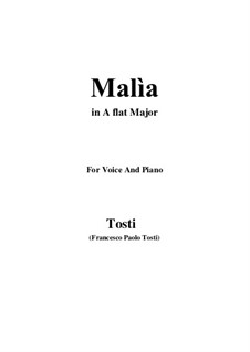 Malia (The Spell): A flat Major by Francesco Paolo Tosti