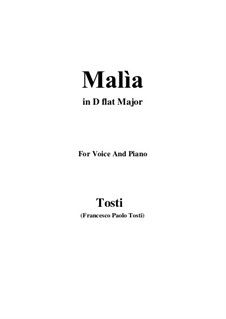 Malia (The Spell): D flat Major by Francesco Paolo Tosti