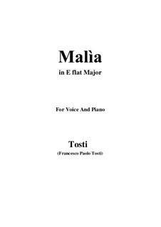 Malia (The Spell): E flat Major by Francesco Paolo Tosti