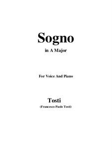 Sogno: A Major by Francesco Paolo Tosti