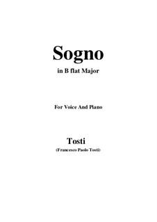Sogno: B flat Major by Francesco Paolo Tosti