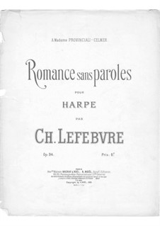 Romance without Words for Harp, Op.94: Romance without Words for Harp by Charles Lefebvre