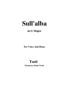 Sull'alba: G Major by Francesco Paolo Tosti