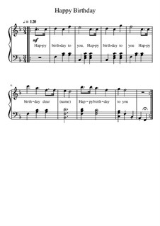 Happy Birthday to You: For piano by Mildred Hill