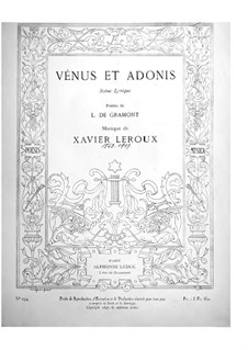 Vénus et Adonis: Vénus et Adonis by Xavier Leroux
