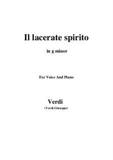 Simon Boccanegra: Il lacerate spirito (g minor) by Giuseppe Verdi