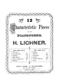 Twelve Characteristic Pieces: Book I by Heinrich Lichner