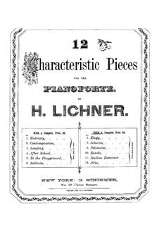 Twelve Characteristic Pieces: Book II by Heinrich Lichner