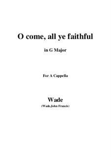 Piano-vocal score: G Major by John Francis Wade