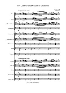 Five Contrasts for Chamber Orchestra: Five Contrasts for Chamber Orchestra by Jordan Grigg