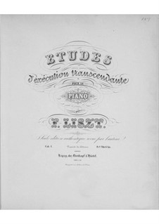 Études d'exécution transcendante, S.139: No.8-12 by Franz Liszt