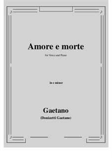 Amore e morte: E minor by Gaetano Donizetti