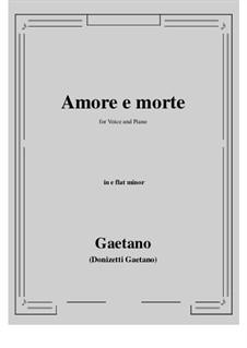 Amore e morte: E flat minor by Gaetano Donizetti