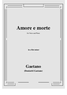 Amore e morte: A flat minor by Gaetano Donizetti