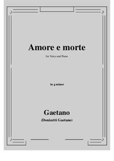 Amore e morte: G minor by Gaetano Donizetti
