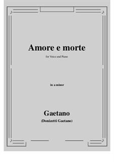 Amore e morte: A minor by Gaetano Donizetti