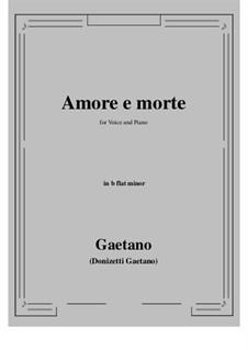 Amore e morte: B flat minor by Gaetano Donizetti