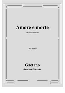 Amore e morte: B minor by Gaetano Donizetti