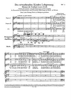 Hymn of the Child on Awakening, S.19: Hymn of the Child on Awakening by Franz Liszt