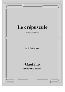 Le crepuscule: E flat Major by Gaetano Donizetti