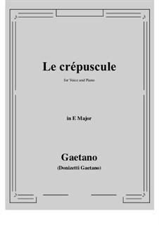 Le crepuscule: E Major by Gaetano Donizetti