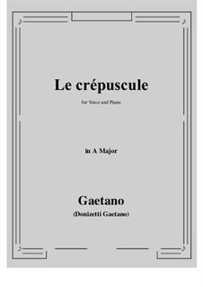 Le crepuscule: A Major by Gaetano Donizetti