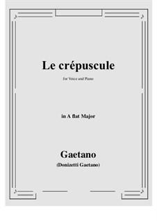 Le crepuscule: A flat Major by Gaetano Donizetti