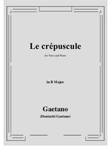 Le crepuscule: B Major by Gaetano Donizetti