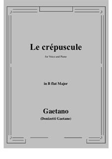 Le crepuscule: B flat Major by Gaetano Donizetti