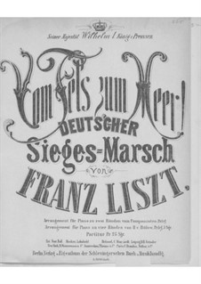 From Rock to Sea, S.229: Piano score by Franz Liszt