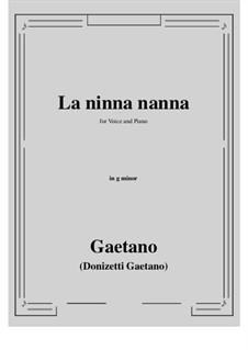 La ninna-nanna: F minor by Gaetano Donizetti