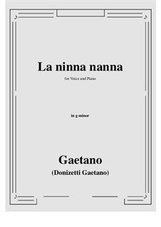 La ninna-nanna: G minor by Gaetano Donizetti