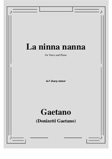 La ninna-nanna: F sharp minor by Gaetano Donizetti