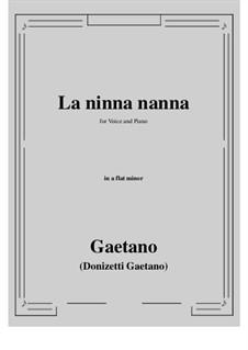 La ninna-nanna: A flat minor by Gaetano Donizetti