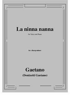 La ninna-nanna: C sharp minor by Gaetano Donizetti
