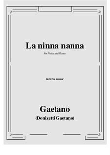 La ninna-nanna: B flat minor by Gaetano Donizetti