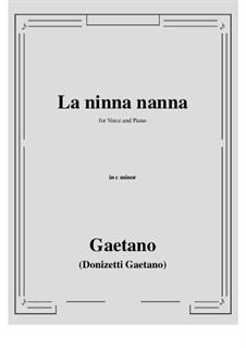 La ninna-nanna: C minor by Gaetano Donizetti