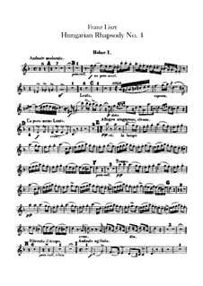 No.12 in C Sharp Minor, for Orchestra, S.359/4: Oboes I-II parts by Franz Liszt