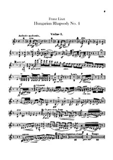 No.12 in C Sharp Minor, for Orchestra, S.359/4: Violin I-II parts by Franz Liszt