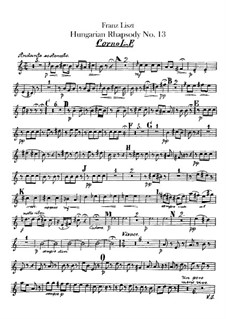 No.13 in A Minor, S.244: For orchestra – french horns parts by Franz Liszt