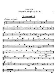 No.13 in A Minor, S.244: For orchestra – trumpets parts by Franz Liszt