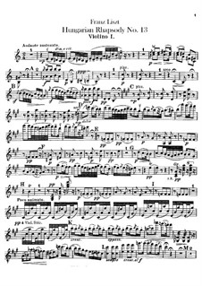 No.13 in A Minor, S.244: For orchestra – violins I-II parts by Franz Liszt