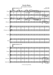 Gentle Rains (for chamber orchestra): Gentle Rains (for chamber orchestra) by Jordan Grigg