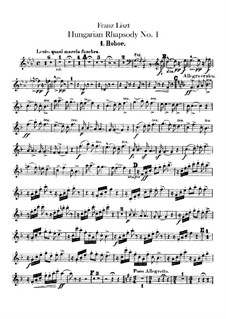 No.14 in F Minor, for Orchestra, S.359/1: Oboes I-II parts by Franz Liszt