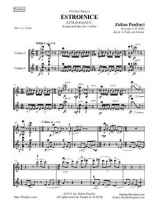 Stravaganza for 2 violins: Stravaganza for 2 violins by Zoltan Paulinyi