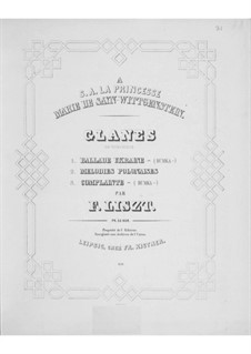 Gleanings from Woronińce, S.249: Gleanings from Woronińce by Franz Liszt