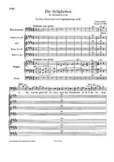 The Beatitudes, S.25: The Beatitudes by Franz Liszt