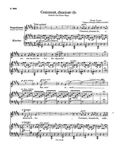 Comment, disaient-ils, S.276: Later version by Franz Liszt